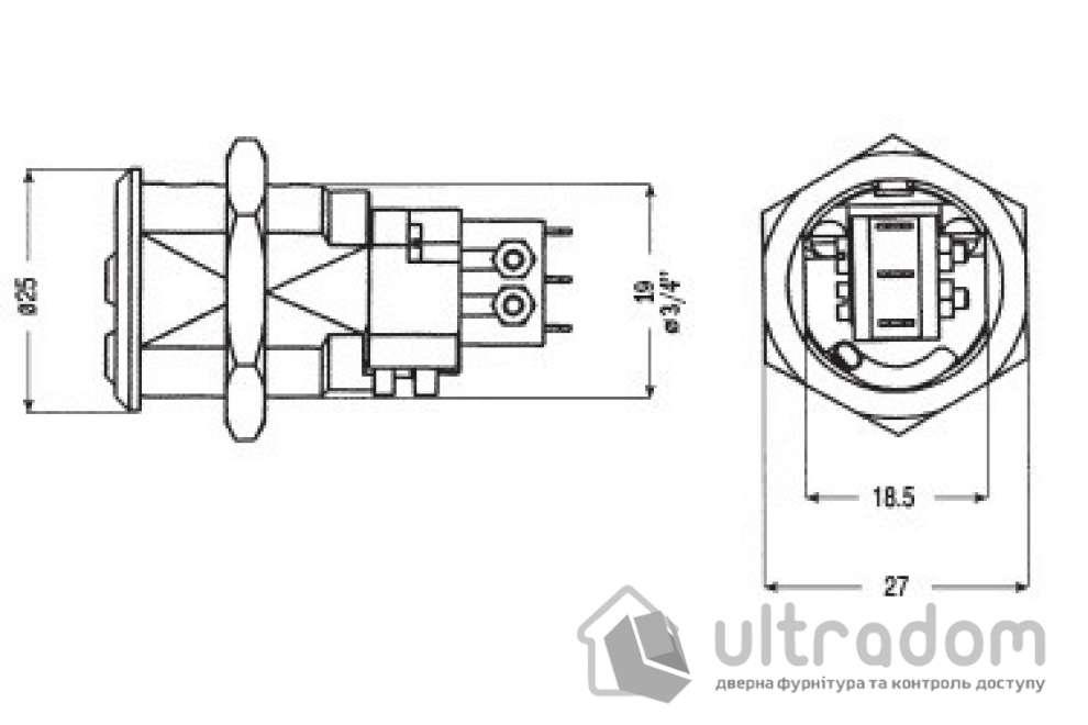 """Замок для оборудования  MUL-T-LOCK CAM19 3/4""""(19мм) 7/8""""(22,2мм) SWITCH"""