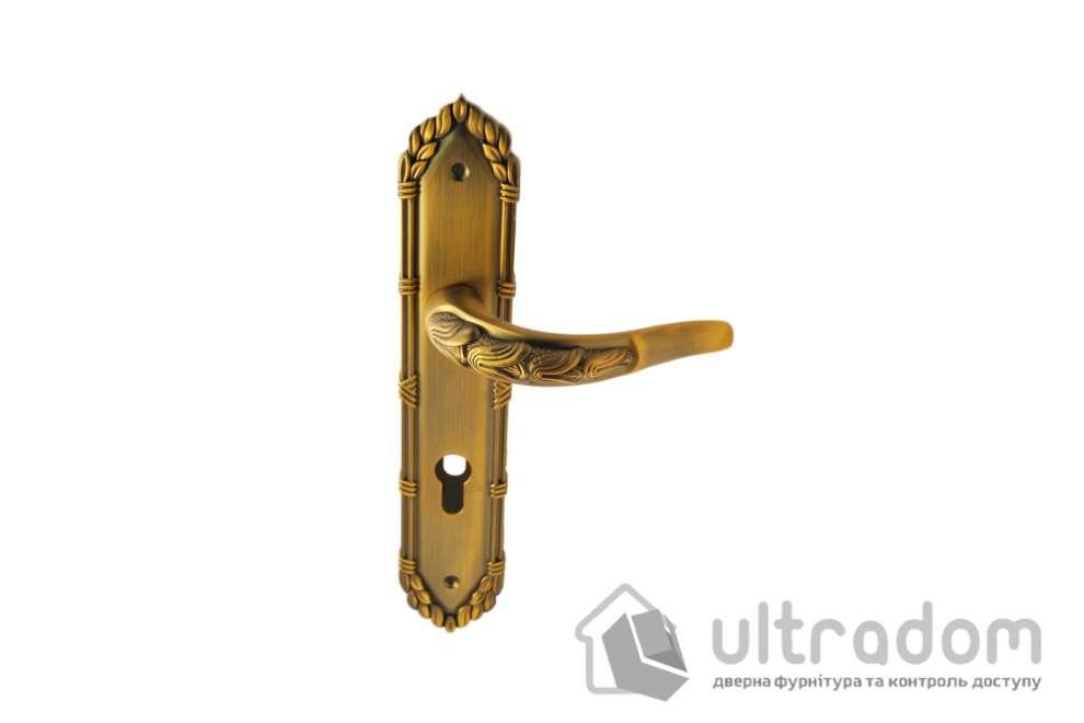 Дверная ручка на планке под ключ (85мм) SIBA Sultan, матовое кофе