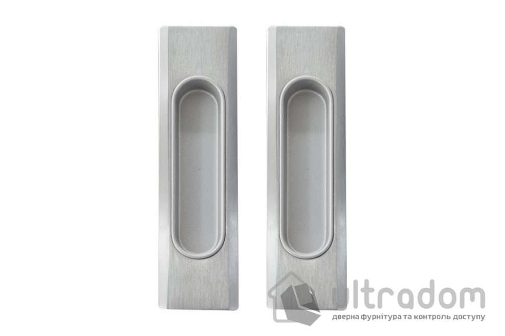 Ручки - ракушки 32х142 мм для раздвижных дверей Mandelli 1038, мат.хром