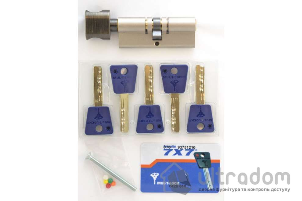 Цилиндр дверной Mul-T-Lock 7x7 кл-вороток., 54 мм