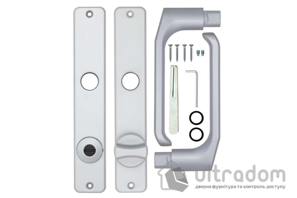 Дверная ручка ROSTEX 804    WC ручка-ручка 72мм хром сатин