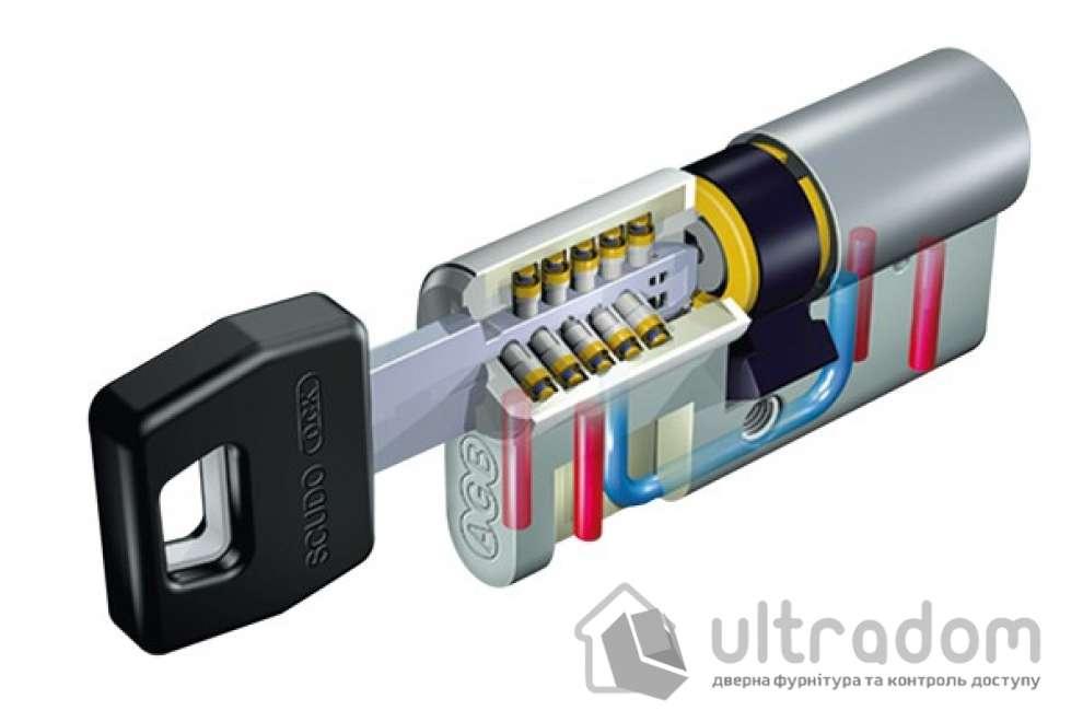 Цилиндр дверной AGB SCUDO DCK ключ-вороток 90 мм