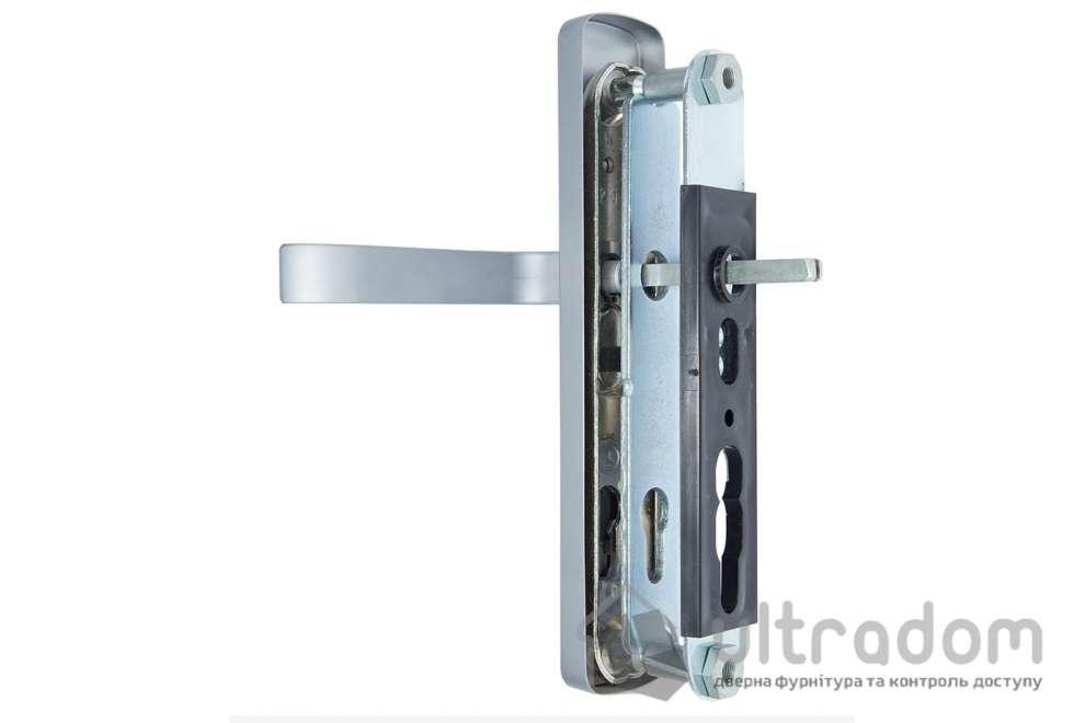 Фурнитура защитная ROSTEX R1  Astra 3 класс  хром матовый с фикс. ручкой 72-85-90