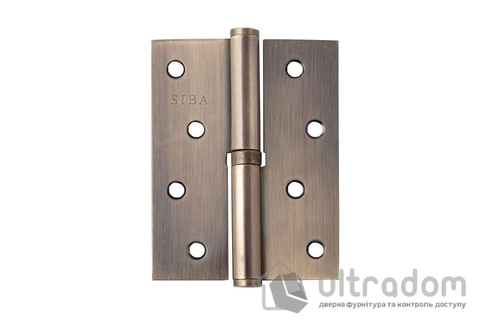 Дверные петли стальные SIBA 100 мм, цвет - античная бронза