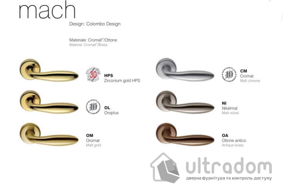 Дверная ручка COLOMBO Mach CD 81  матовый хром