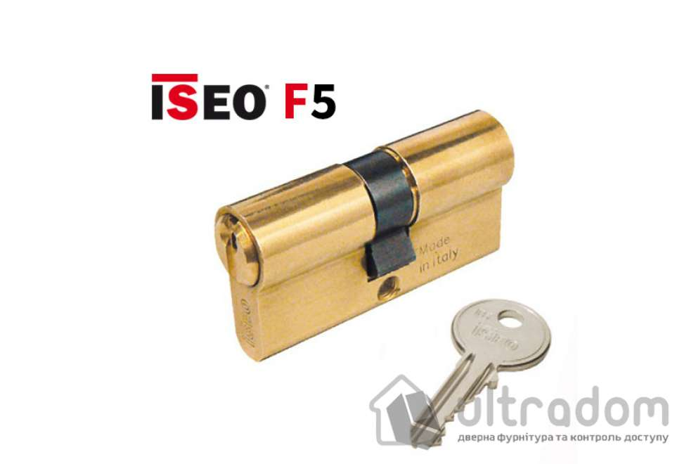 Цилиндр дверной ISEO F5 ключ-ключ, 80 мм