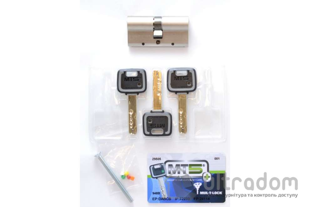 Цилиндр дверной Mul-T-Lock MT5+ ключ-ключ., 100 мм