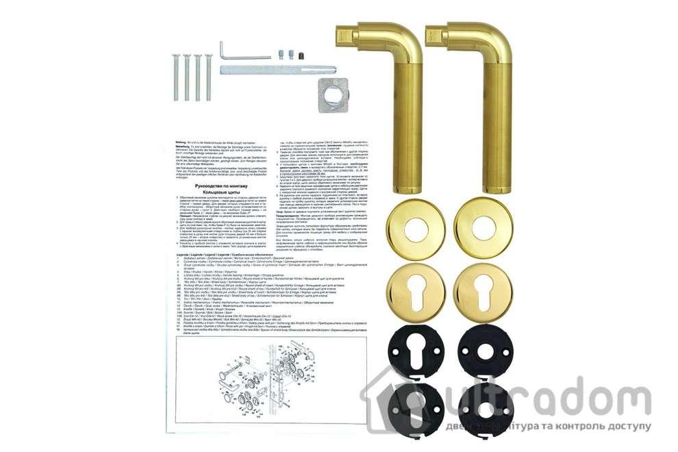 Дверная ручка ROSTEX REAL SNH55 mov-mov PZ латунь полированная