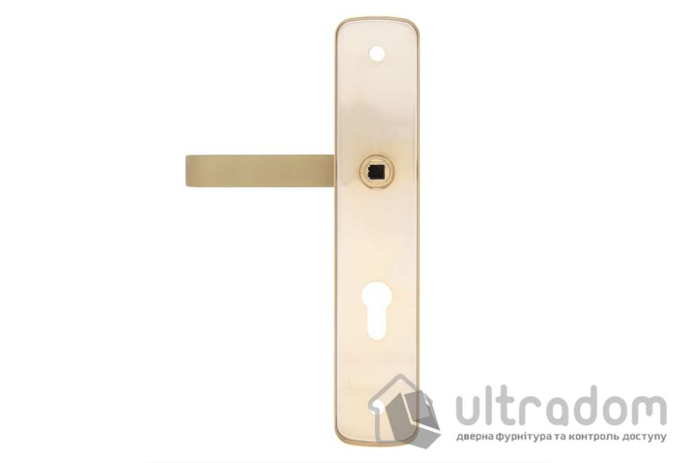Фурнитура защитная ROSTEX R1 Astra 3 класс 90 мм  латунь сатин с фикс. ручкой