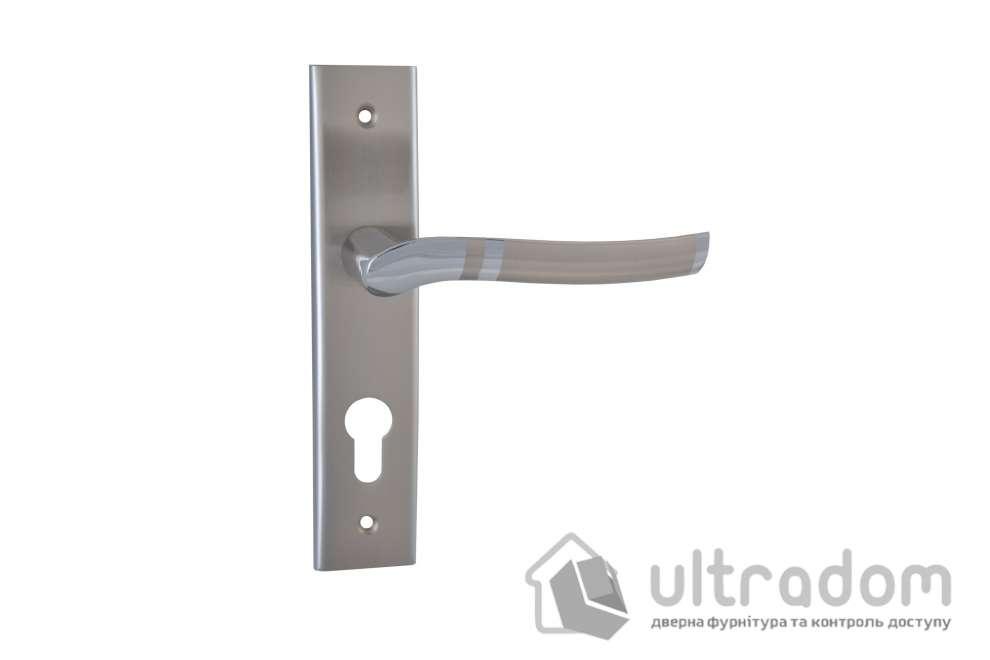 Дверная ручка на планке под ключ 62 мм SIBA Verona мат.никель-хром