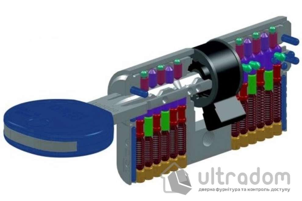 Цилиндр дверной ISEO R7 ключ - вороток, 75 мм