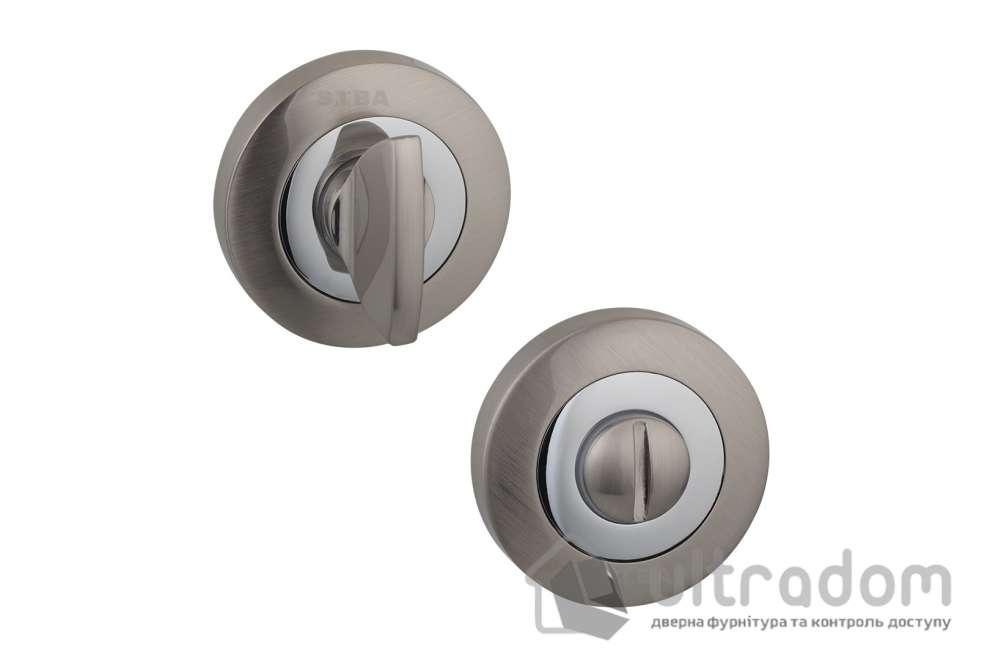 Фиксатор WC SIBA R01 матовый никель / хром 22 07