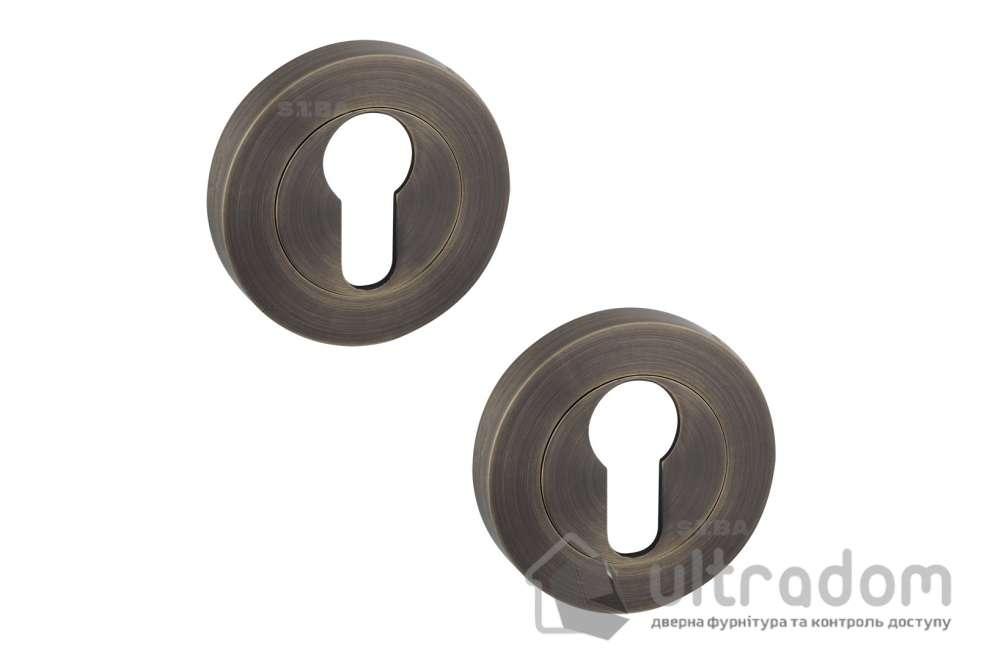 Накладки под цилиндр PZ SIBA A01 античная бронза 80 80