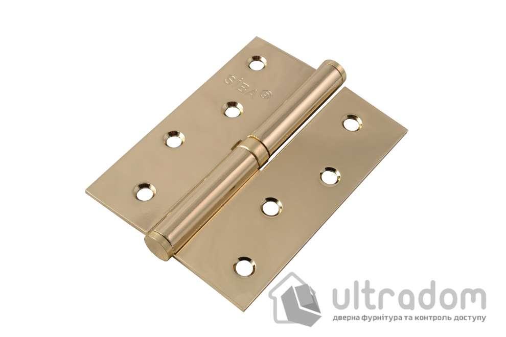 Дверные петли стальные SIBA 100 мм, цвет - полированная латунь