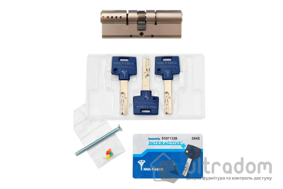 Цилиндр дверной Mul-T-Lock Interactive+ ключ-ключ., 120 мм