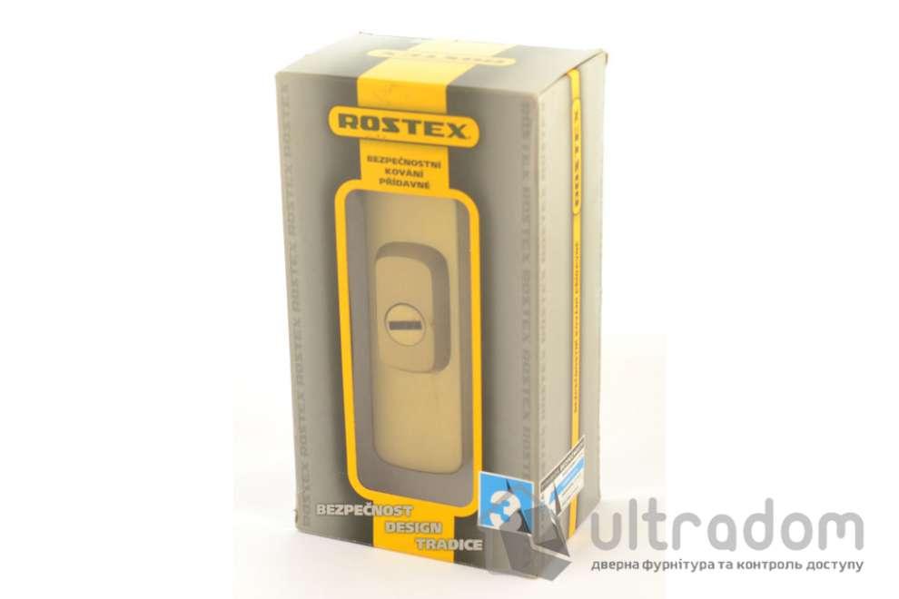 Броненакладка ROSTEX Astra R3 DIN PLATE 22мм, матовая латунь