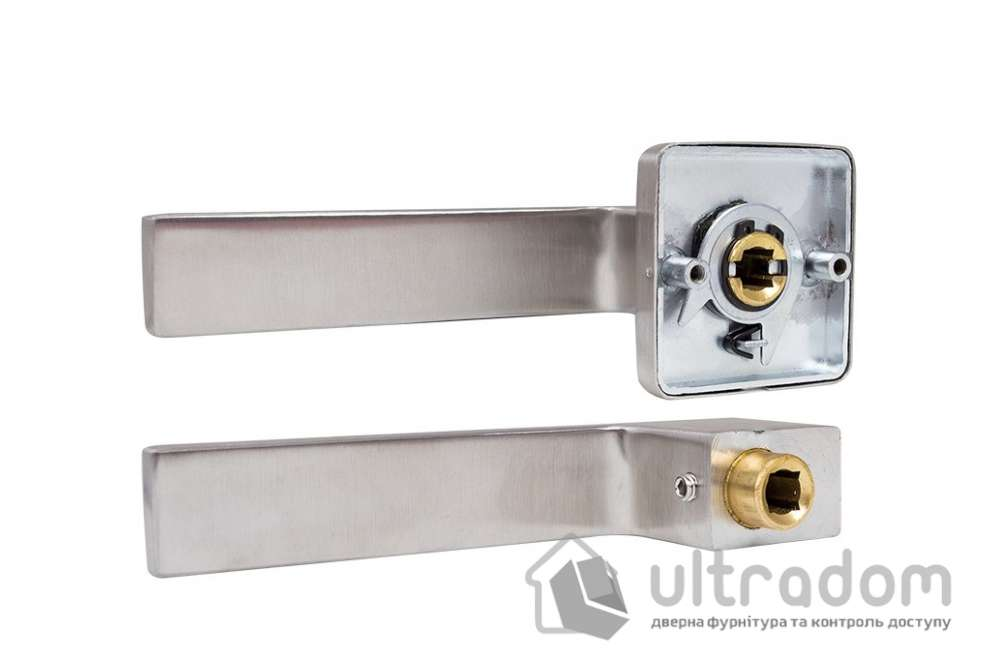 Дверная ручка ROSTEX RAVENA H53 mov-mov нержавеющая сталь