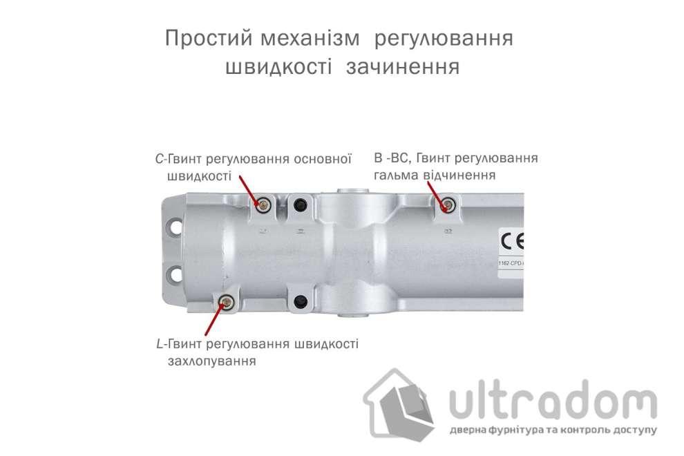 Доводчик дверной ABLOY CAM DC330  EN1-4 дверь до 80 кг