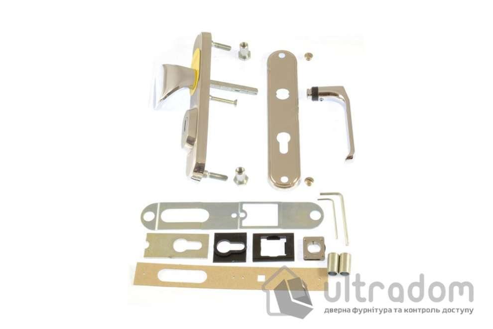 Фурнитура защитная ROSTEX R1 Decor 4 класс  матовый никель с фикс. ручкой 72-85-90