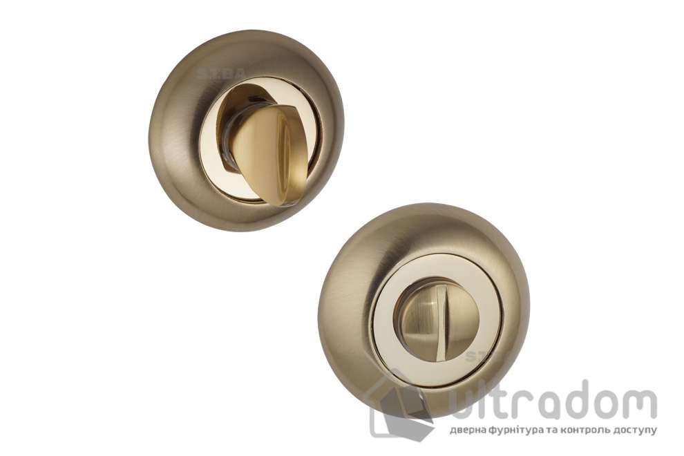 Фиксатор WC SIBA R02  матовое золото / тёмное золото 21 11