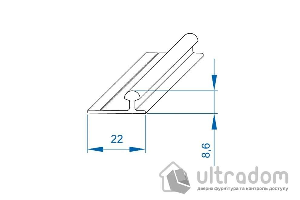 Направляющая рельса Valcomp ARES 2 2000 мм для шкафа-купе