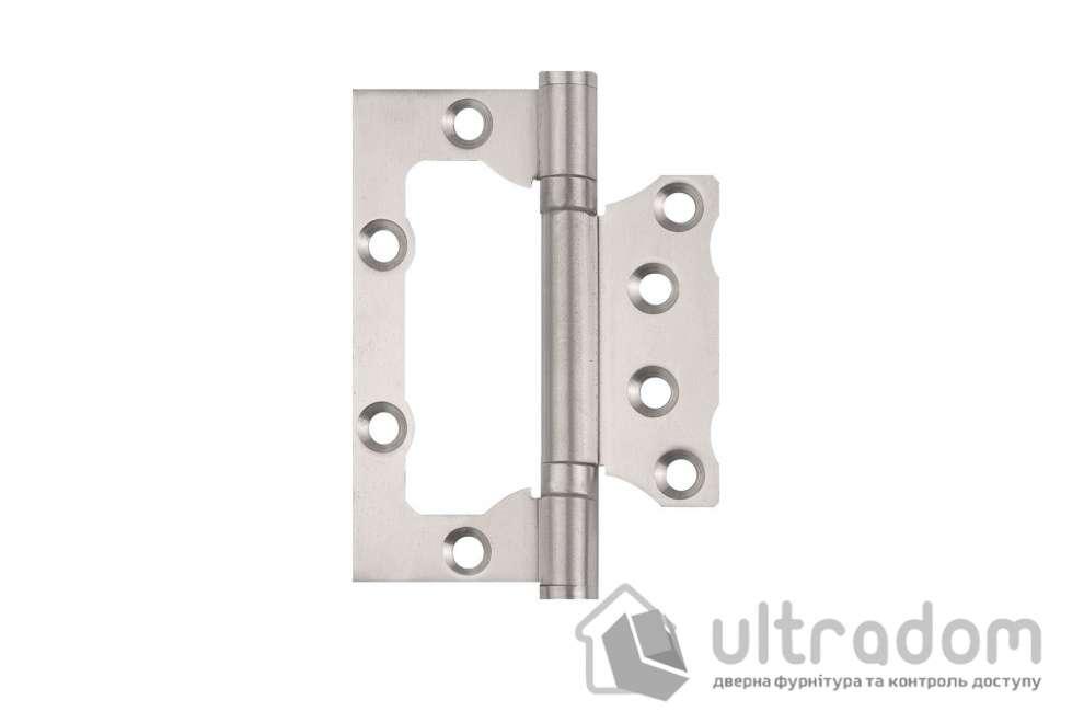 Петля дверная накладная SIBA 100 мм, матовый никель SN