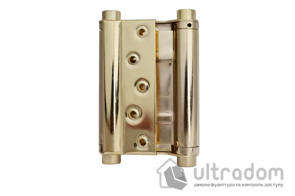 Петля маятниковая MERT №33 120/140 мм, цвет - латунь