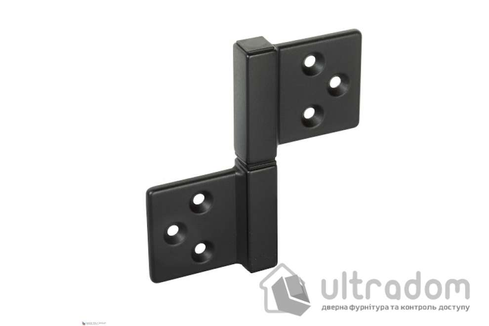 Петля накладная ALDEGHI LUIGI 143NO032_Q  32x35 мм, чёрная