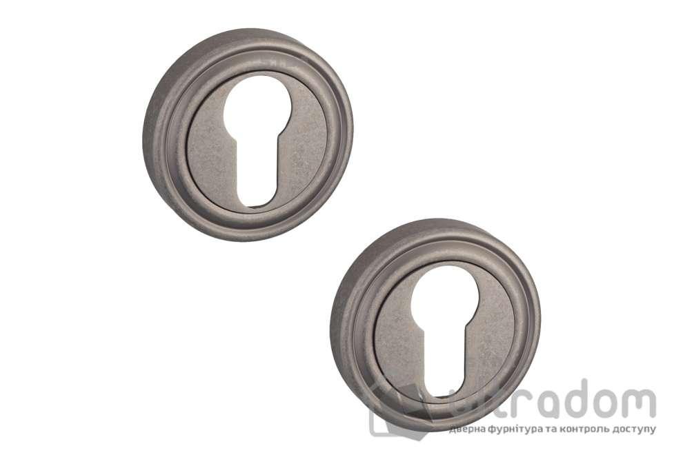 Накладки под цилиндр PZ SIBA R06 серебро античное 84 42
