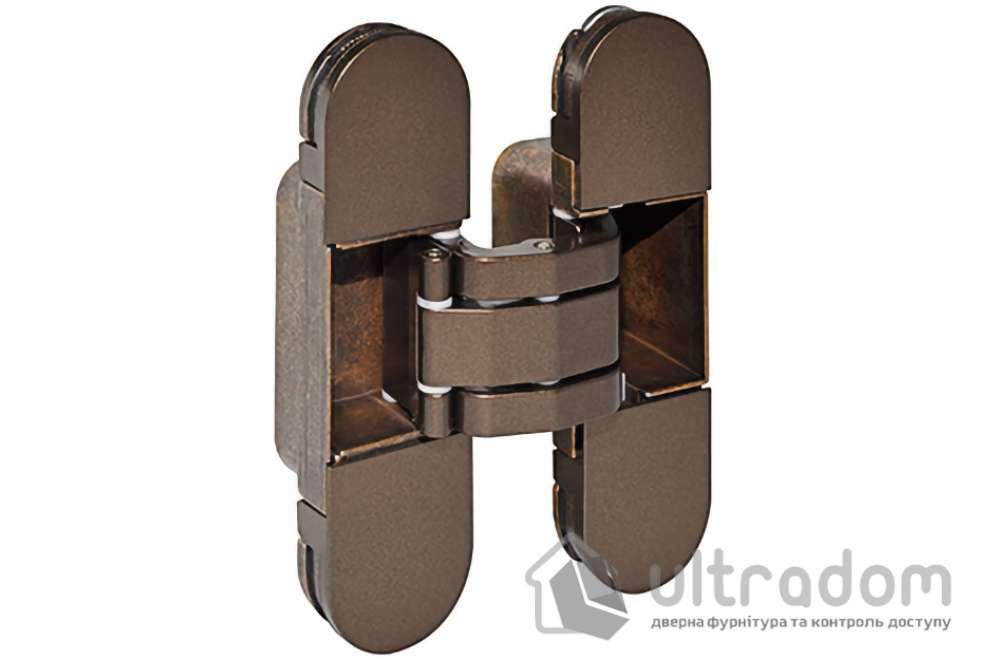 Скрытая дверная петля AGB Eclipse 2.0 110х30 мм коричневая бронза с колпачками