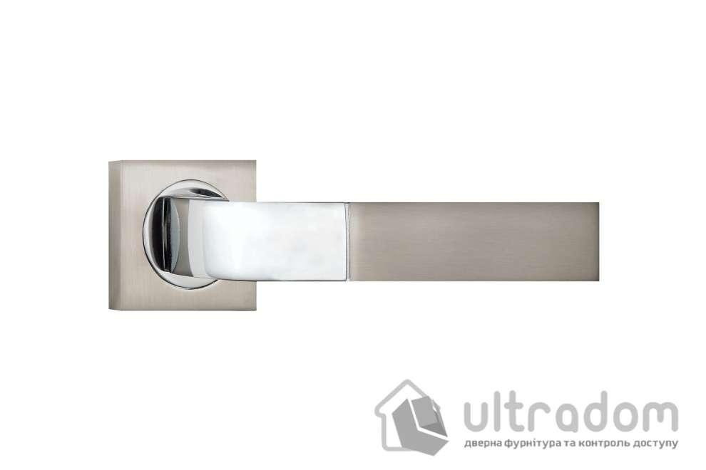 Ручка дверная на розетке SIBA Belek, мат.никель-хром