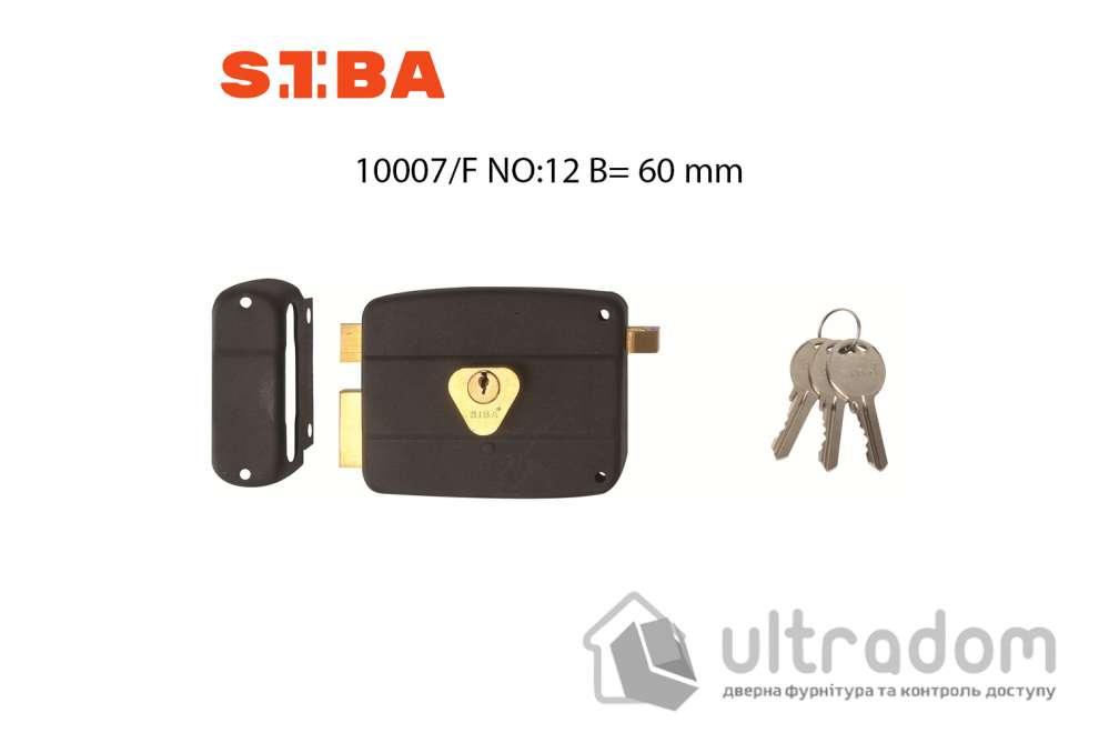 Замок накладной SIBA 10007/Е NO:12 с защёлкой