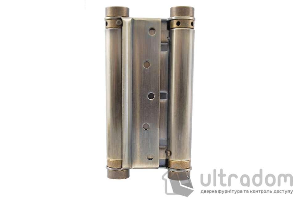 Петля маятниковая  №30 100/120 мм, цвет - бронза