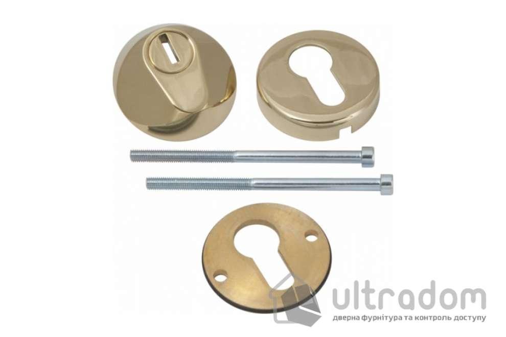 Броненакладка для цилиндра AGB TENAX, полированное золото