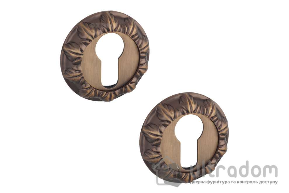 Накладки под цилиндр PZ SIBA R05, матовый кофе 85 85