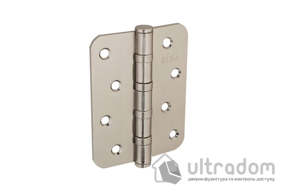 Петля дверная РАДИУСНАЯ  SIBA 100 мм,  матовый никель SN