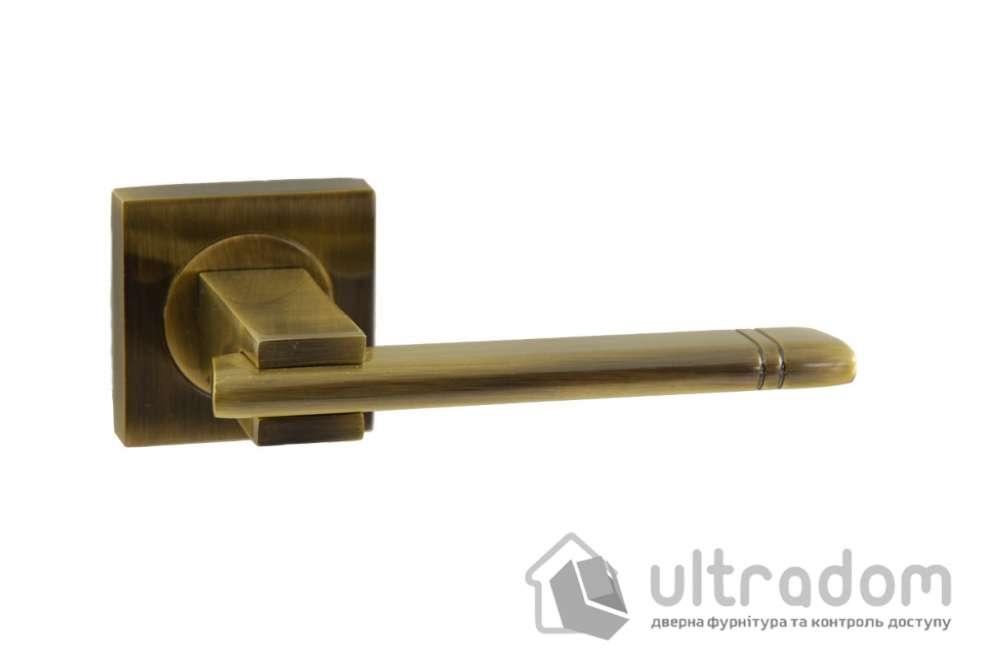 Ручка дверная на розетке SIBA Kristal, античная бронза