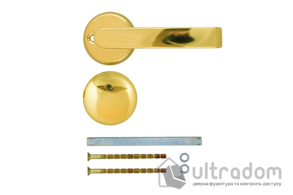 Дверная ручка  ABLOY  PRIME 15/119 с кнобом латунь полированная