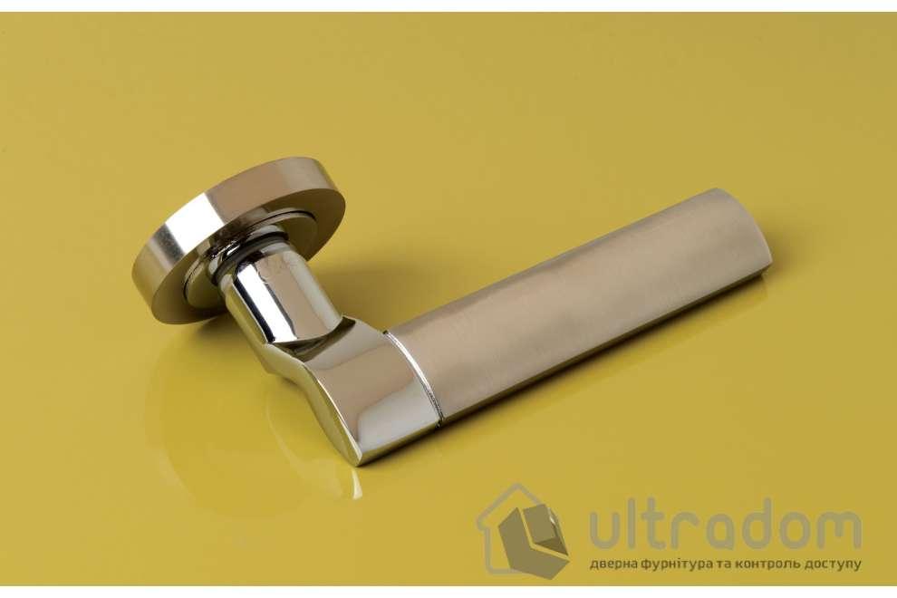 Ручка дверная на розетке SIBA Truva, мат.никель-хром
