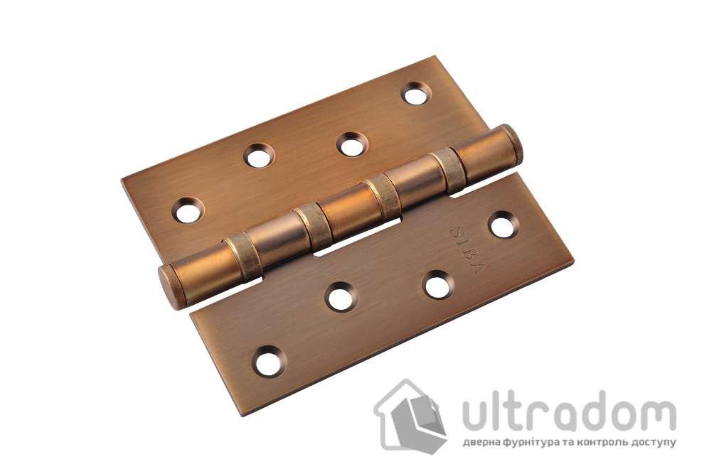 Петли дверные универсальные SIBA 100 мм, цвет - матовое кофе