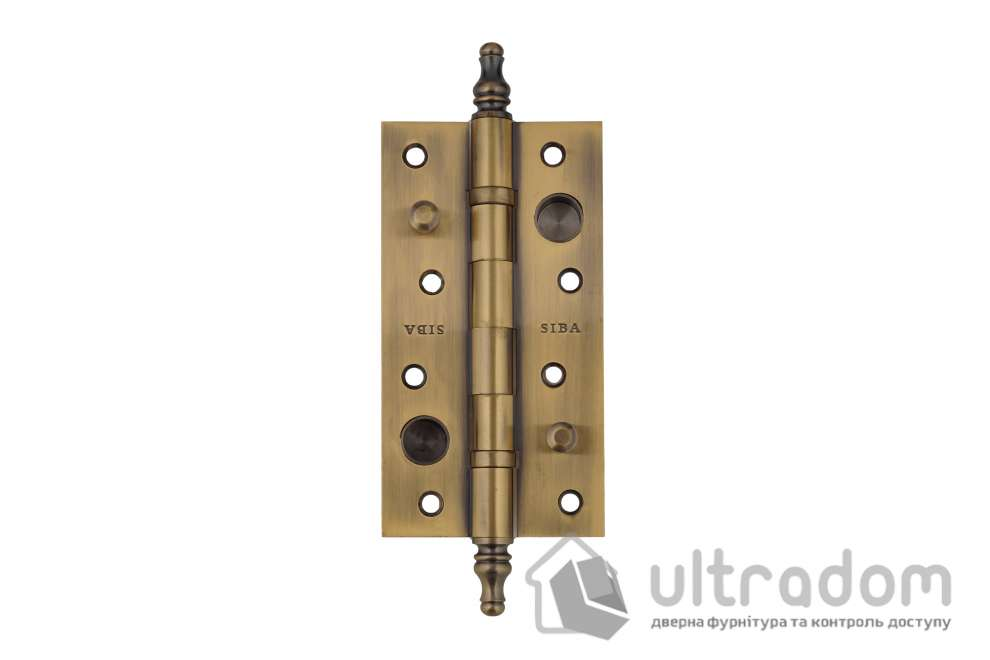 Дверная петля усиленная ЛАТУННАЯ SIBA 150 мм, античная бронза AB