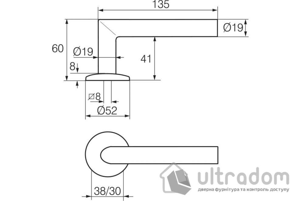 Дверная ручка   ABLOY INOXI 3-19SS/002