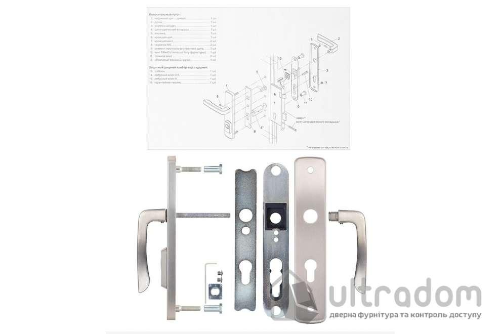 Фурнитура защитная ROSTEX R4 Astra 3 класс матовый никель 72-85-90