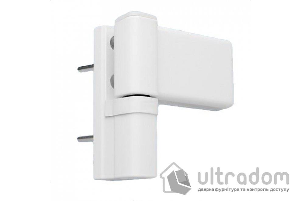 DHV 3D Петля для ПВХ двери белая
