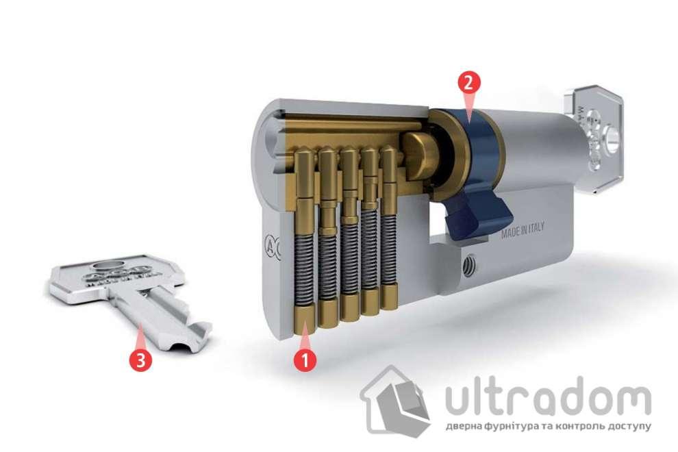 Цилиндр дверной с простым ключом AGB SCUDO 600 ключ-ключ 60 мм