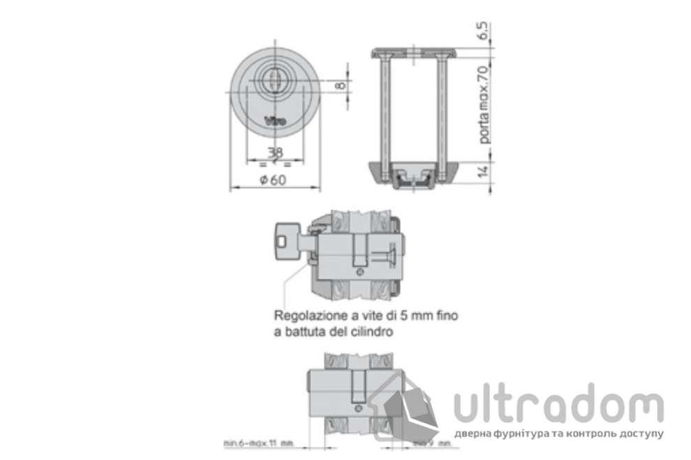 Протектор защитный VIRO 808.046 DIN ROUND  14мм