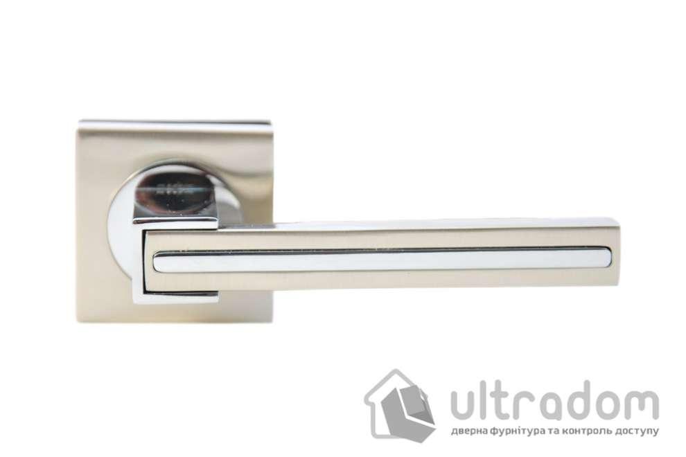 Ручка дверная на розетке SIBA Galaxy, мат.никель-хром
