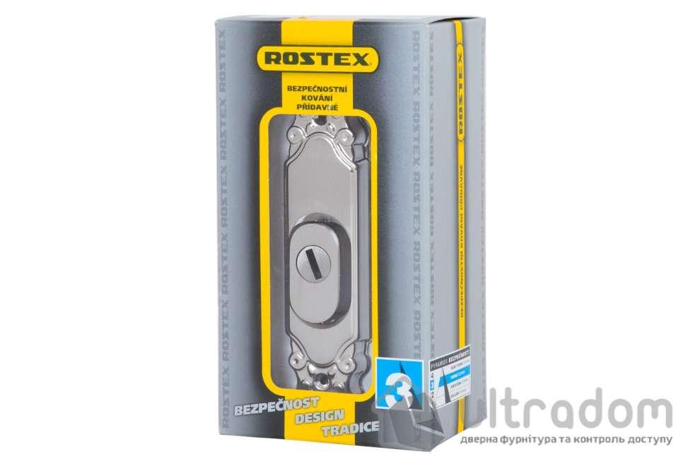 Броненакладка ROSTEX Ozdobna R3 DIN PLATE, матовый хром