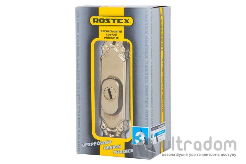 Броненакладка ROSTEX Ozdobna R3 DIN PLATE, матовый титан PVD