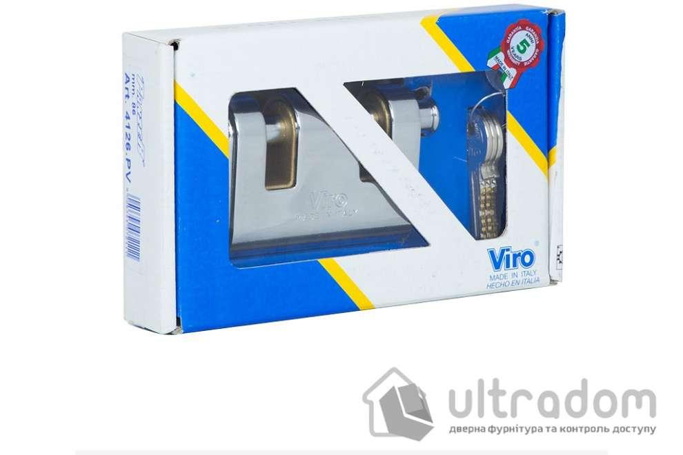 Бронированный навесной замок VIRO PANZER_VR.2AS 3KEY с двумя запорными болтами 3 ключа